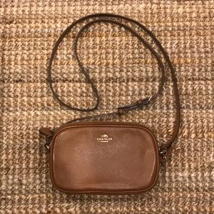Brown Leather Coach Small Crossbody Purse